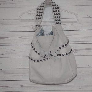 Twiggy of London Suede Studded Tote
